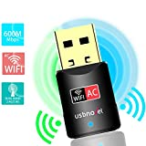 USB WiFi Adapter- 600Mbps USB Wireless Network WiFi Dongle Adapter for PC/Desktop/Laptop/Mac(Updated Version), Dual Band 2.4G/5G 802.11 ac,Support Windows 10/8/8.1/7/Vista/XP/2000, Mac OS 10.6-10.15