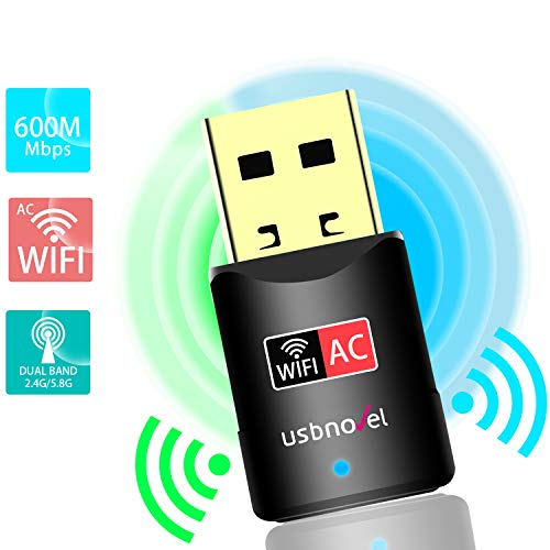 OURLINK 600Mbps AC600 Dual Band USB WiFi Dongle /& Wireless Network Adapter for Laptop//Desktop Computer 2.4 GHz 150Mbps, 5GHz 433Mbps Backward Compatible with 802.11 a//b//g//n Products