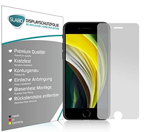 Slabo 4 x Bildschirmschutzfolie für iPhone 6 | iPhone 6S | iPhone 7 | iPhone 8 | iPhone SE 2020 Bildschirmfolie Schutzfolie Folie Zubehör No Reflexion MATT