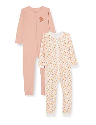NAME IT Child Schlafanzug 2er-Pack Reißverschluss 86Silver Pink