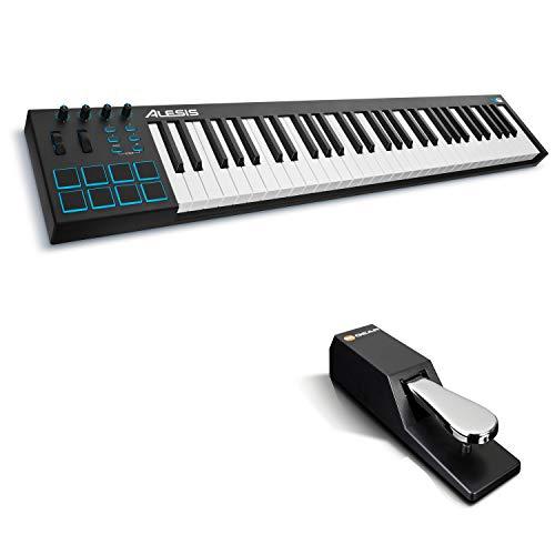 Alesis V61 + M-Audio SP-2 - Teclado controlador USB-MIDI portátil de 61...