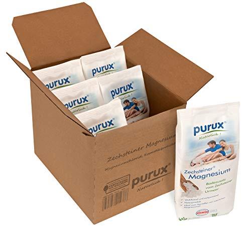 Purux Zechsteiner Magnesium 3,6 kg MgCl2 6X 600g geprüfte Kosmetikqualität, dermatologisch getestet