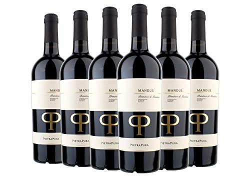 Primitivo di Manduria DOC Mandus Pietra Pura 2018 0,75 L box da 6 bottiglie