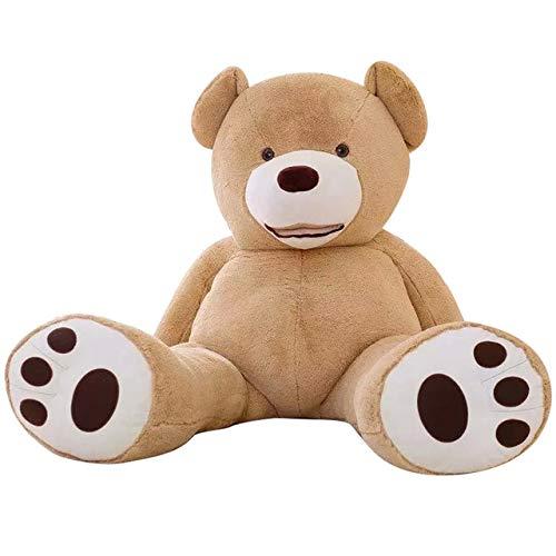 CLINGE Teddy Bear Skin 100-260cm unstuffed America Giant Teddy Bear Plush Toy Soft Teddy Bear Skin Birthday Valentine's Gifts for Girl Kid's Toy-Light Brown-260cm