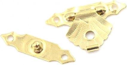 Antieke Hasp en Mini Box Scharnieren, 10 stks Gift Box Decoratieve Hasp Mini Antieke Ijzeren Sheet Houten Case Hasp voor T...