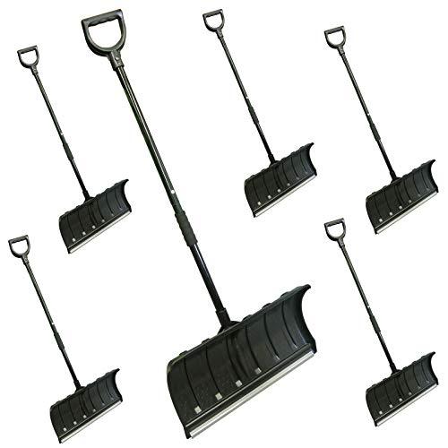 ガーデンガーデン ジョイント式軽量スノープッシャー(雪かきハンドラッセル) ブラック 6本セット 幅55cm 長さ136cm SVL135-6P-BLK