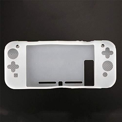 OSTENT Silikon Anti-Rutsch-Schutzhülle Hülle Tasche für Nintendo Switch Console Controller Farbe Weiß