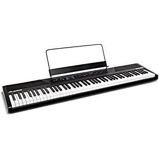 Alesis Recital - 88-Key Beginner Digital Piano / Keyboard with Full-Size Semi-Weighted Keys, Power Supply, Built-In Speakers and 5 Premium Voices (Amazon Exclusive):Tourlombok-piranti