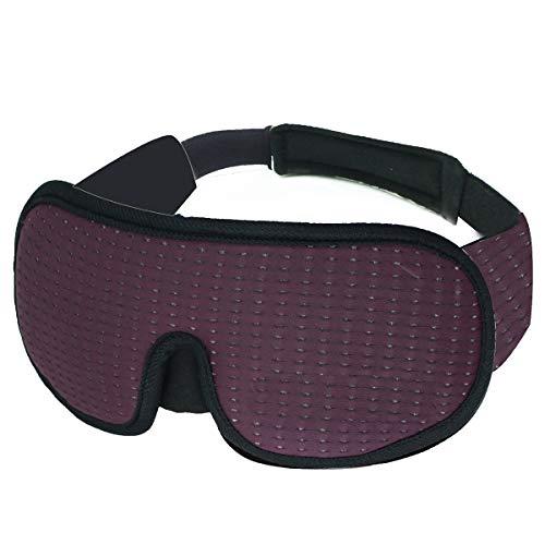 SunshineFace Slapend Oog Masker, 3D Oog Cover Licht Blokkeren Slaap Masker Unisex Ademend Oog Cover voor Reizen/Nap/Nacht Slapen Eén maat Paars