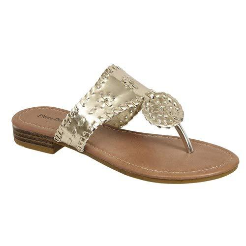 Pierre Dumas Rosetta-20 Women's Sandals, Gold 6 M