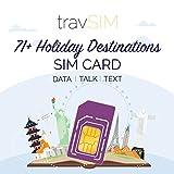travSIM - 71+ Tarjeta SIM para Destinos de Vacaciones (Tarjeta SIM Three UK) Válida por 30 Días - 6GB de Datos Móviles - Australia Francia Brasil Alemania Israel Suiza Vietnam UK Three Tarjetas SIM
