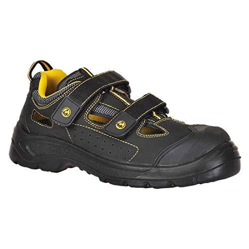 Portwest FC04 - Vale do sandalia S1P 43/9, color Negro, talla 43