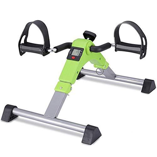 DMZH Mini Bicicleta Estática, Pedalier Plegable Manual Pedaleador para Ancianos para Ejercicios De Piernas Y Brazos