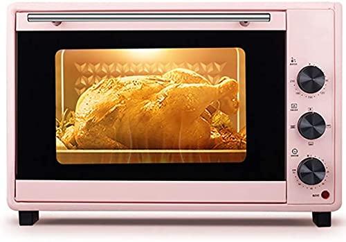 Mini horno de 40L, temperatura ajustable 0-230 ℃ y 60 minutos Temporizador Posición de horneado de cinco capas Horno eléctrico multifunción