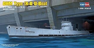 Hobbyboss 1:350 Scale DKM Type lX-B U-Boat Model Kit (Grey) by Hobbyboss