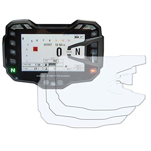 3 x Ducati Multistrada 950/1200/1260 2015> tableau de bord/groupe d'instruments protecteur d'écran - anti-éblouissement