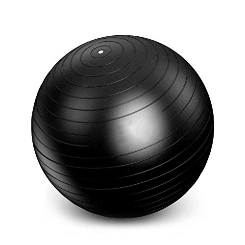 FLYWM Gymnastikball für Beckenübungen Yoga Ball Fitnessball für Yoga Mini Pilates Ball Weich Pilates-Ball Core Strength Rückenübungen,Schwarz 25cm