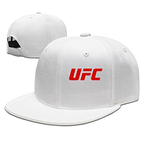 Hittings UFC Red Logo Unisex Cool Snapback Hat Vintage White