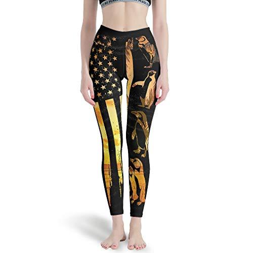O5KFD & 8 dames patroon fitness legging dames 4-weg stretch compressie buikregulering broek sport yoga anti-cellulitis leggings dames -