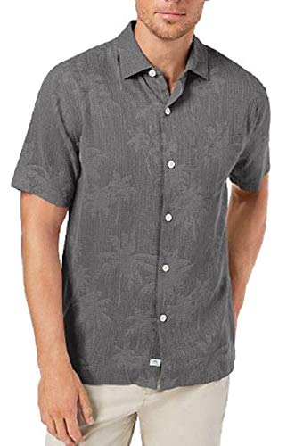 Price comparison product image Tommy Bahama Digital Palms Silk Camp Shirt (Color: Cave,  Size XXL)