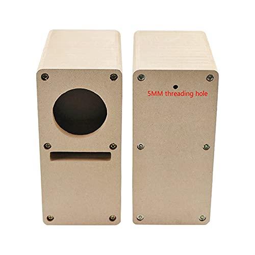 Argerrant 2 unids 2 Pulgadas 52 mm Laberinto de Madera Altavoz vacío Caja de Audio Laberinto Laberinto 14 tablones DIY Audio Shell Desktop