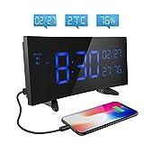 Holife Réveil Numérique/Horloge Alarme Température & Humidité Affichage à LED...