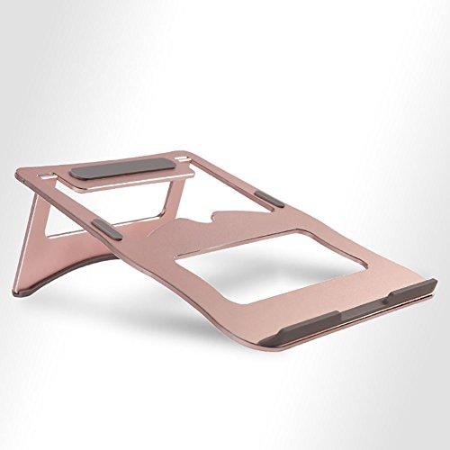 Aluminium Notebook Stand, Radiator Basis Hals Hoogte Vouwen Worden Opgevouwen Terug En Vooruit A