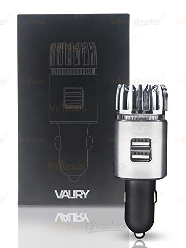 Valiry Car Air Purifier Portable Air Ionizer for Vehicles- Removes Smoke, Bad Odors, Dust, Pollen,...