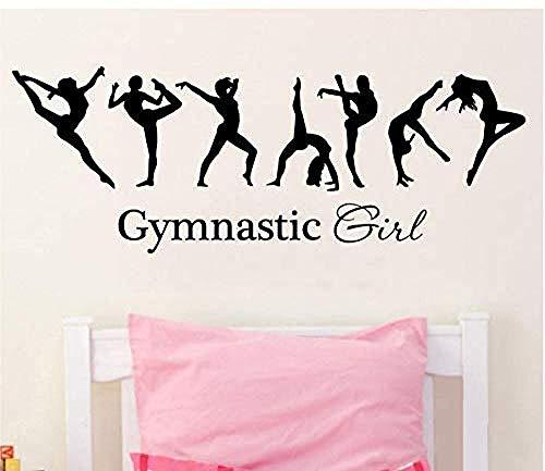 YAZCC Wandaufkleber Mädchen Gymnastic Ballet Dancer Peel und Stick Abnehmbare Abziehbilder Schlafzimmer Wohnzimmer Office Home Dekoration 30x90 cm
