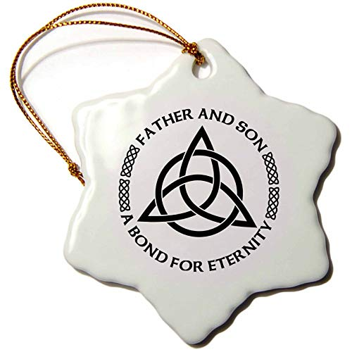 3dRose Celtic Fatherhood Knot Father and Son A Bond for Eternity - Ornaments (ORN_268561_1)