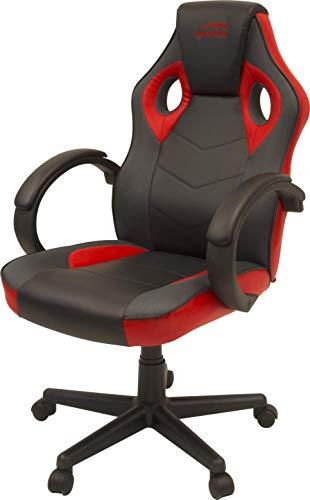 Speedlink YARU Gaming Chair Schreibtischstuhl - optimierte Ergonomie - hochwertiges Kunstleder - bequemes Sitzen, schwarz-rot