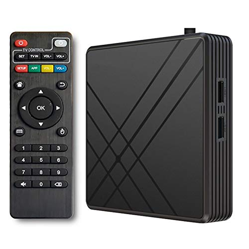 XIAOTIAN Caja De TV, Android 10.0 TV TV Smart TV Set Top Box, 4GB RAM 32GB ROM WiFi 2.4G 10 / 100M Ethernet LAN Media Box, Soporte 4K Y 3D Ultra HD Internet Video Play