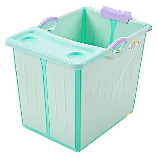 Guotail Bañera Plegable del bebé — Lavabo de Gran tamaño Portable no resbaladizo de la Ducha/baños del Asiento del hogar/Cubo del baño,Green