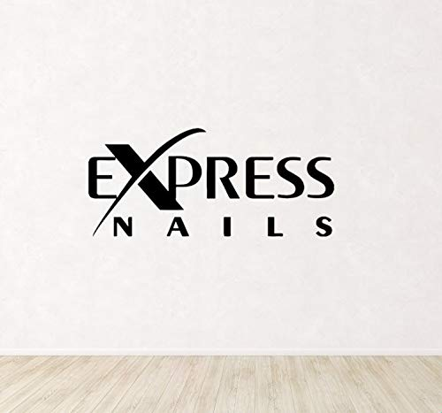 Citas divertidas Fashion Decal Express Nails Cita Logo Salón de belleza para el dormitorio