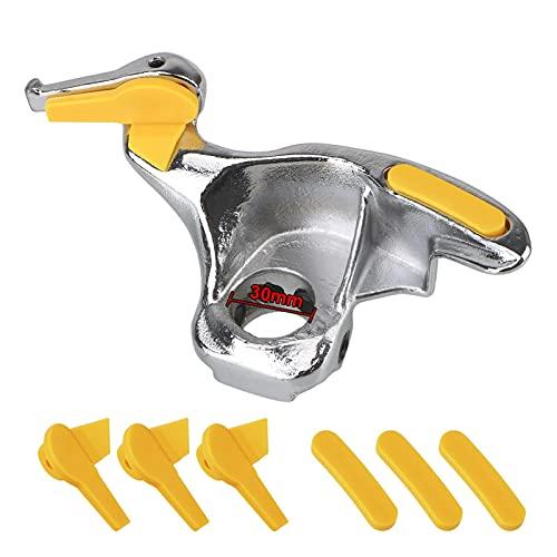 XU Tao 28 mm / 30 mm Moldeo de Estilo Kit de moldeo de Acero Inoxidable Vehículo de vehículo de neumáticos Montaje de Metal Montaje Demount Bird Head Tool Auto (Color : 30MM)