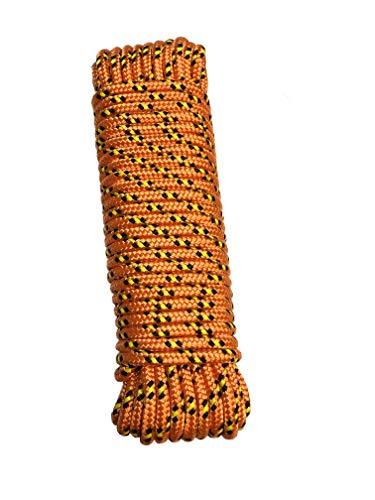 Seil 8 mm 20 m - Polypropylenseil PP, Festmacherleine, Allzweckseil, Strick, Gartenseil, Outdoor - Bruchlast: 700kg, 20m x 8mm (1, orange-schwarz)