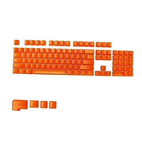 Homyl 104キーDIY透明キーキャップメカニカルキーボードPCゲーミングキーボードマシナリーカラークリアキーキャップセットCHERRYMX /クローンスイッチゲーミングキーボード用 - オレンジ透明