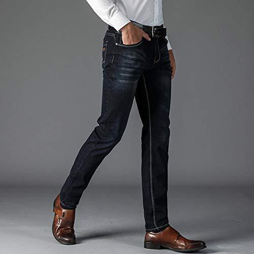 Jeans Novedades Primavera Verano Pantalones Vaqueros Holgados De Corte Recto para Hombre Pantalones Vaqueros Casuales De Cintura Alta Elásti