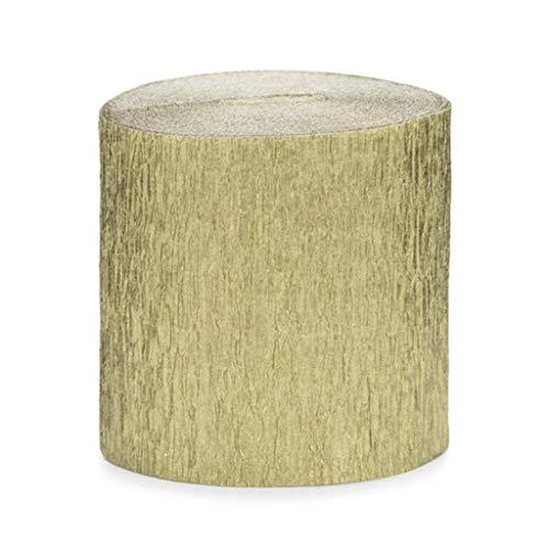 Publilancio SRL 4 Stück Rolle KREPP-Papier Rosen Gold aus 5 cm x 10 M jeder total 40 M