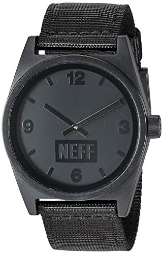 Neff Unisex Daily Analog Watch with Mesh Band for Men or Women, One Size, black/woven