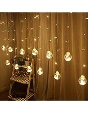 Uonlytech الستار أتمنى الكرة سلسلة أضواء ، أضواء ديكور المنزل الجنية ، أضواء معلقة الزجاج لحفلات الزفاف عيد الميلاد حزب غرفة النوم ديكور المنزل