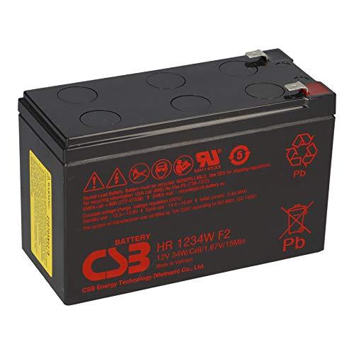 CSB HR 1234W F2 - Batería de plomo (12 V, 8,4 Ah, 34 W, 1,67 V, 15 min, compatible con MP1236H, NPW45-12, HR1234WF2, UP-RW1245P1, WP1236W)
