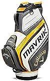 Callaway Mavrik Sac à roulettes pour Bâton de Golf (2020), Charbon/Blanc/Orange