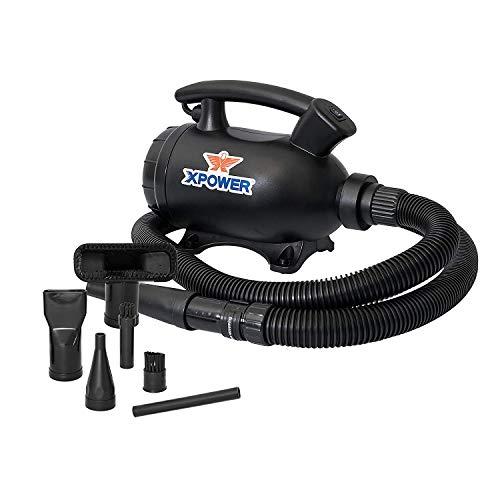 XPOWER A-5 Secador de plumero eléctrico múltiple, bomba de aire, plumero de aire comprimido, vacío (negro)