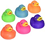"2""SOLID COLOR RUBBER DUCKIES"