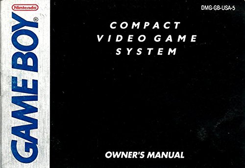 Gameboy Compact Video Game System Instruction Booklet (Nintendo GB Manual ONLY - NO GAME) Pamphlet - NO GAME INCLUDED