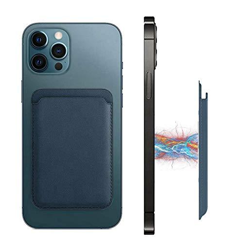 호환 아이폰 12 시리즈 자기 MAG-안전 지갑 가죽 전화 RFID 카드 홀더 스틱 전화 다시