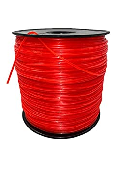 wewr Echo String Trimmer Cross Fire Line 5-Pound Commercial Square .095-Inch-by-1280-ft String Trimmer Line in Spool Red