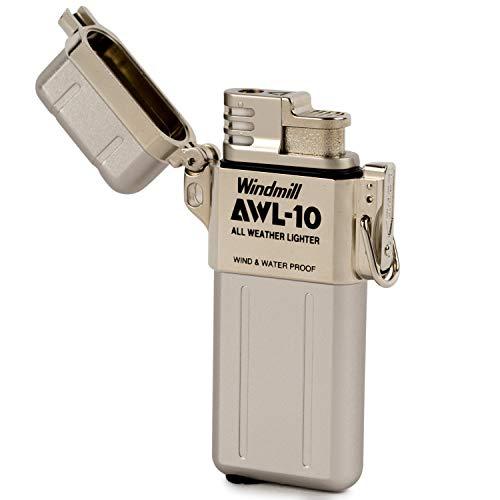 WINDMILL(ウインドミル)ライターAWL-10ターボ防水耐風仕様シルバー307-0001