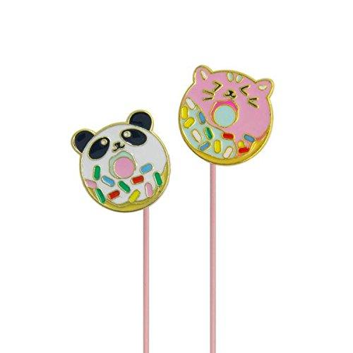 DCI - Auriculares en ángulo: Doughnimals, Auriculares intrauditivos, Cable Rosa, Enchufe de...
